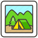 1f3d5, b, camping icon