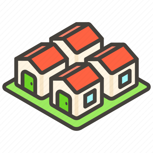 1f3d8, a, houses icon
