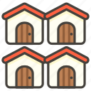 1f3d8, d, houses icon