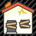 1f3da, derelict, house icon