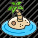 1f3dd, desert, island icon