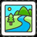 1f3de, b, national, park icon