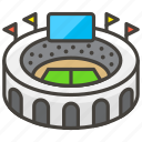 1f3df, a, stadium icon