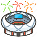 1f3df, b, stadium icon