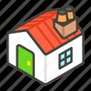 1f3e0, a, house icon
