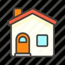 1f3e0, b, house icon