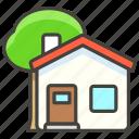 1f3e1, garden, house, with icon