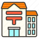 1f3e3, japanese, office, post icon