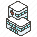 1f3e5, a, hospital icon