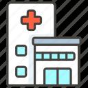 1f3e5, b, hospital icon