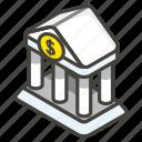 1f3e6, a, bank icon
