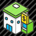 1f3e6, b, bank icon