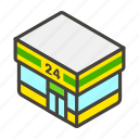 1f3ea, b, convenience, store icon