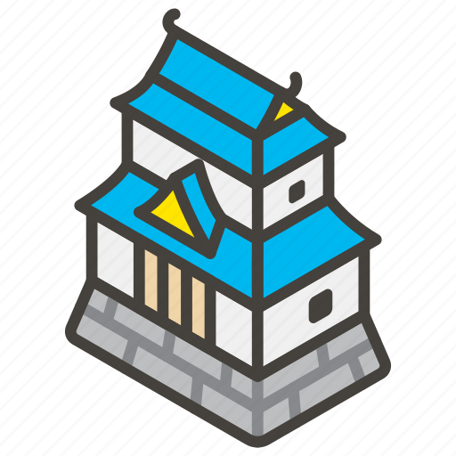1f3ef, a, castle, japanese icon