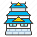 1f3ef, b, castle, japanese icon