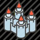 1f3f0, a, castle icon