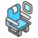 1f4ba, a, seat icon