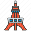 1f5fc, tokyo, tower icon