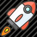 1f680, b, rocket icon