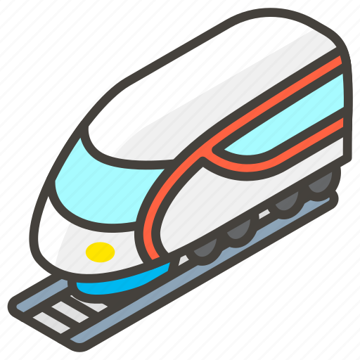 1f684, b, high, speed, train icon