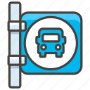 1f68f, a, bus, stop icon