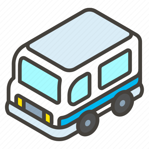 1f690, a, minibus icon