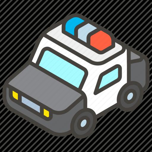 1f693, a, car, police icon