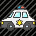 1f693, b, car, police icon