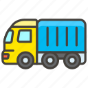1f69a, b, delivery, truck icon
