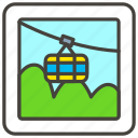 1f6a0, b, cableway, mountain icon