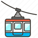 1f6a1, aerial, tramway icon