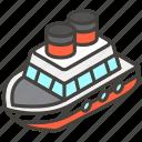 1f6a2, a, ship icon