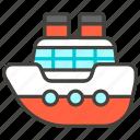 1f6a2, b, ship icon