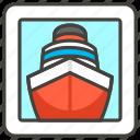 1f6a2, c, ship icon