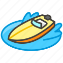1f6a4, a, speedboat icon