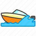 1f6a4, c, speedboat icon