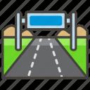 1f6e3, motorway icon