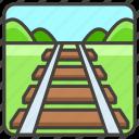 1f6e4, a, railway, track icon