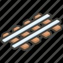 1f6e4, b, railway, track icon