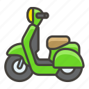 1f6f5, a, motor, scooter icon