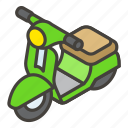 1f6f5, b, motor, scooter icon