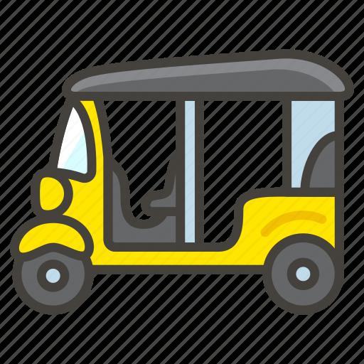 1f6fa, auto, rickshaw icon