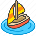 26f5, a, sailboat icon