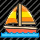 26f5, c, sailboat icon