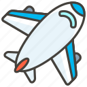 a, airplane icon