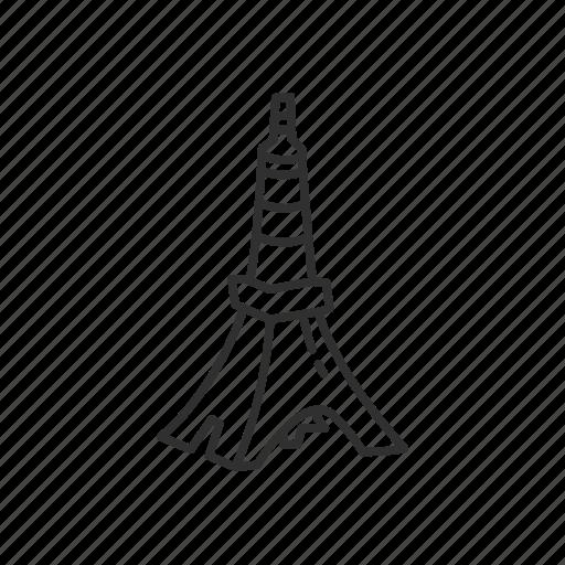 building, eiffel tower, emoji, landmark, tokyo, tokyo tower, tower icon