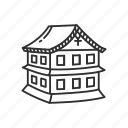 building, castle, emoji, japanese, japanese castle, japanese house, medieval icon