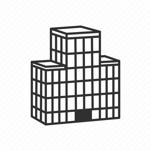 building, business, city, emoji, hotel, office, office building icon