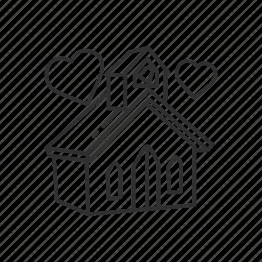 Building, church, church wedding, heart, love, wedding, chapel icon - Download on Iconfinder