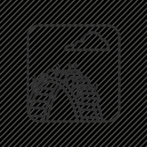 Amusement park, coaster, emoji, fun, park, ride, roller coaster icon - Download on Iconfinder